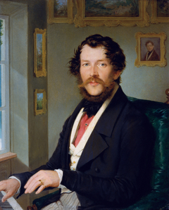 Portrait of a Gentleman playing piano