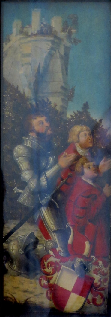 Portrait of a Knight and His Two Sons