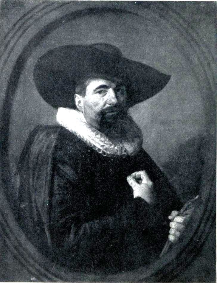 Portrait of a man with hat and ruff collar