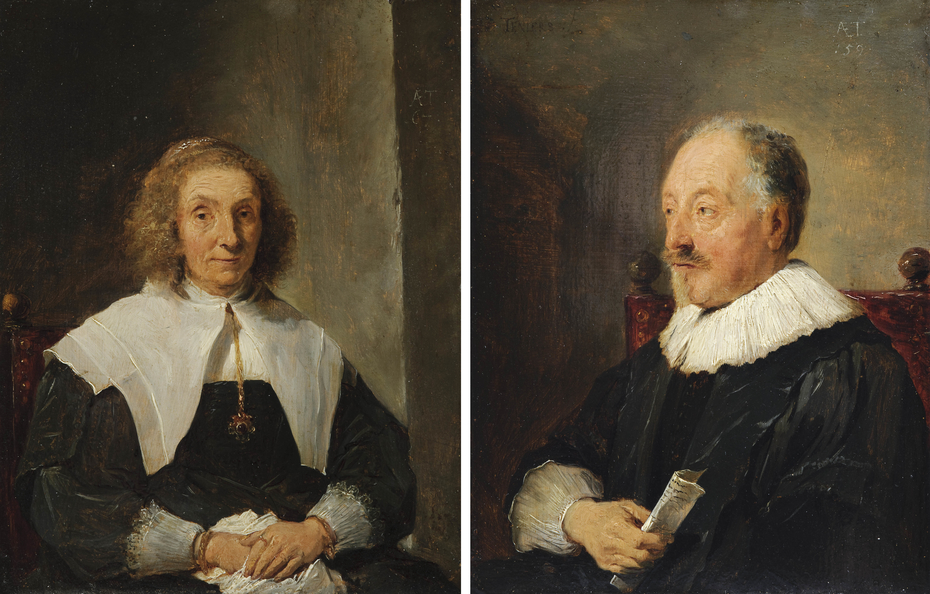 Portrait of a woman and Portrait of a man