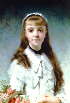 Portrait of a young girl (alternate title: Young Girl with Bouquet)