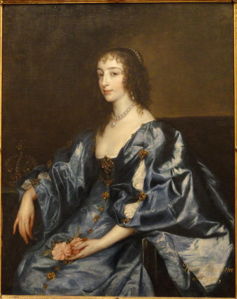 Portrait of Henrietta Maria de Bourbon, Queen of England (1609-1669)
