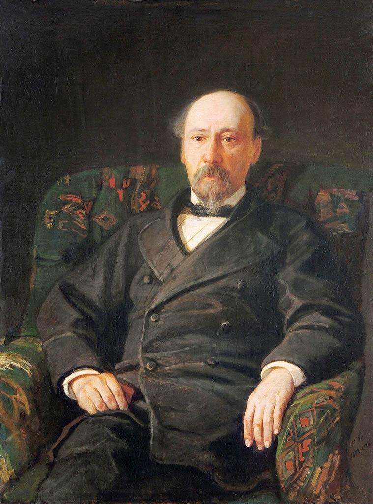 Portrait of Nikolai Nekrasov