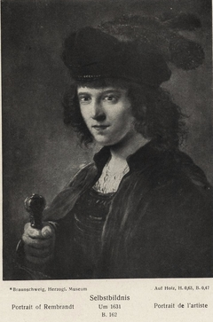 Portrait of Rembrandt with sword