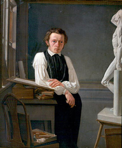 portrait of the painter Niels Peter Holbech
