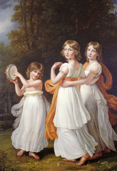 Portrait of the youngest daughters of Maximilian I of Bavaria (Sophie, Marie, and Ludovika)