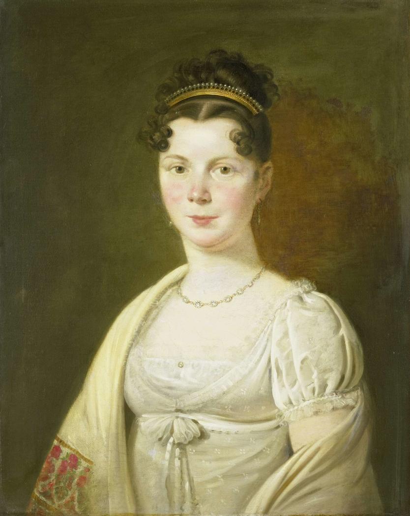 Portrait of Wilhelmina Maria Haack, fourth Wife of Gerrit Verdooren