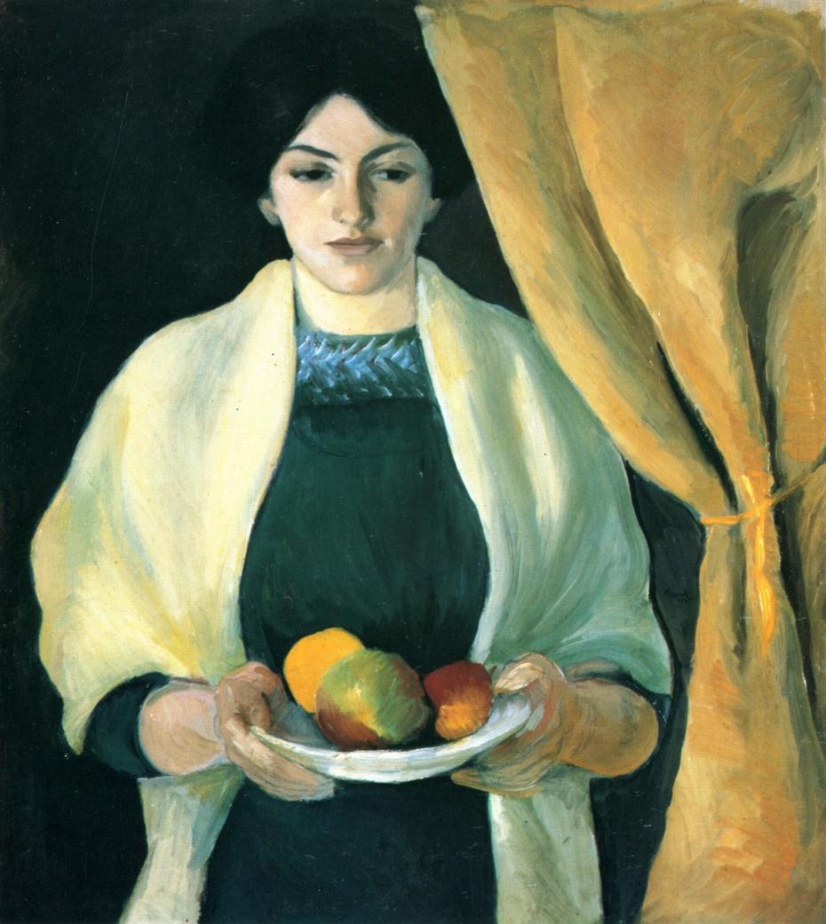 Porträt mit Äpfeln: Frau des Künstlers