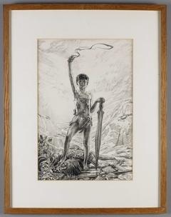 Portret van Joseph Luns als David