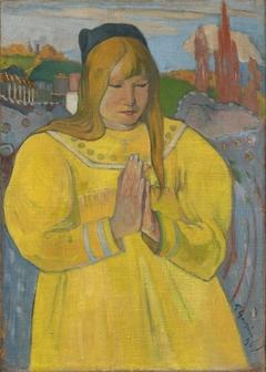 Praying Breton girl / Young christian girl