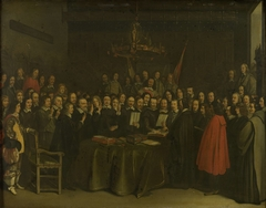Ratification of the Peace of Münster between Spain and the Dutch Republic in the Town Hall of Münster, 15 May 1648