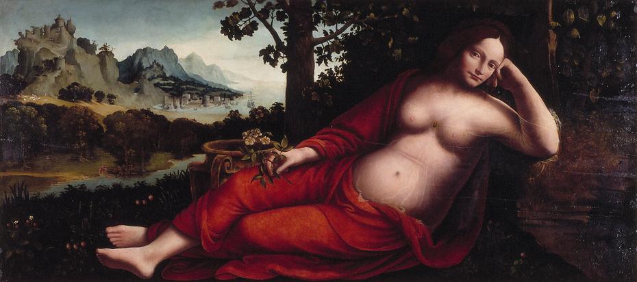 Rhea Sylvia met scenes uit de geschiedenis van Romulus en Remus
