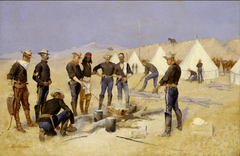 Roasting the Christmas Beef in a CavalryCamp