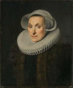 Sara van Bosschaert (version of 3/4-length portrait in the Prinsenhof, Delft)