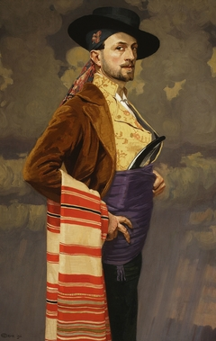 Self-portrait in a Spanish costume