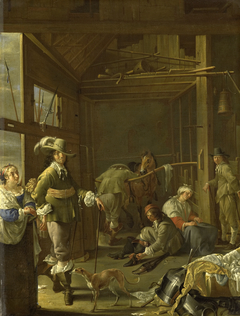 Soldiers in a stable