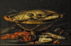 Still life of fish and shrimp