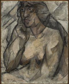 Study of a nude (Female half-nude)