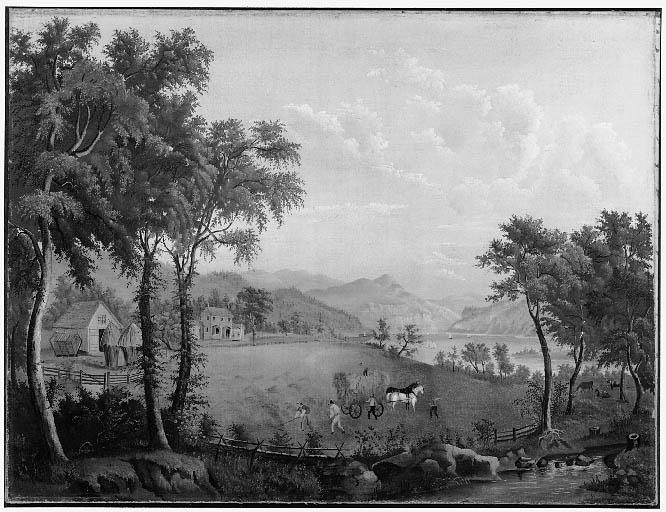 Summer Landscape: Haymaking (after American Harvesting)