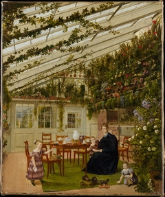 The Family of Mr. Westfal in the Conservatory