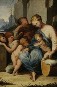 The Holy Family with the infant St John the Baptist and angels