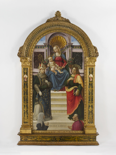 The Madonna and Child with Sts. Louis of...