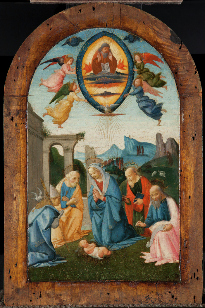 The Madonna and Four Saints Adoring the Infant Jesus