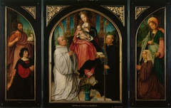 Triptych: Virgin and Child with Saints and Donors