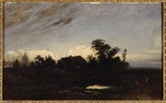Une mare près de la Glacière, au crépuscule (1821)