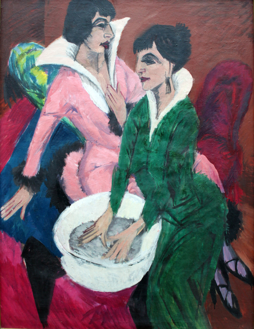 Two Women with a Washbasin; The Sisters