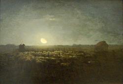 Le parc à moutons, clair de lune