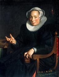 Portrait of Christina Wtewael van Halen (1568-1629)
