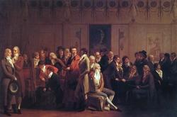 Réunion d'artistes dans l'atelier d'Isabey : salón de 1798