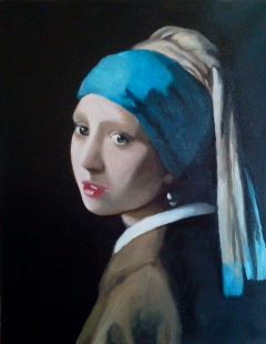 Vermeer's Girl with the Pearl Earring Reproduction
