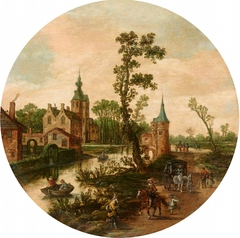 View of a Castle with Tower