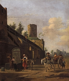 View of the City Wall and St. Pantaleon's, Cologne