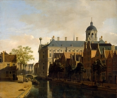 View of the Ratshuis in Amsterdam