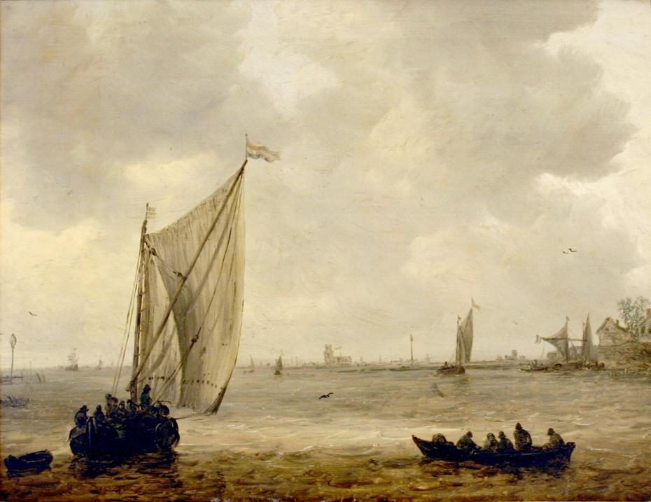 View over the Maas towards Dordrecht