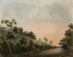 Vue du Lac de la (.) pres de la nouvelle habitation (atribuído)