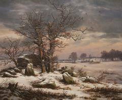 Winter Landscape. Near Vordingborg