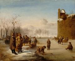 Winter scene after Adriaen van de Velde