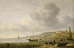 A Beach Scene near Scheveningen