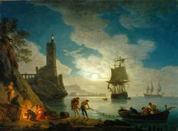 A Harbor in Moonlight
