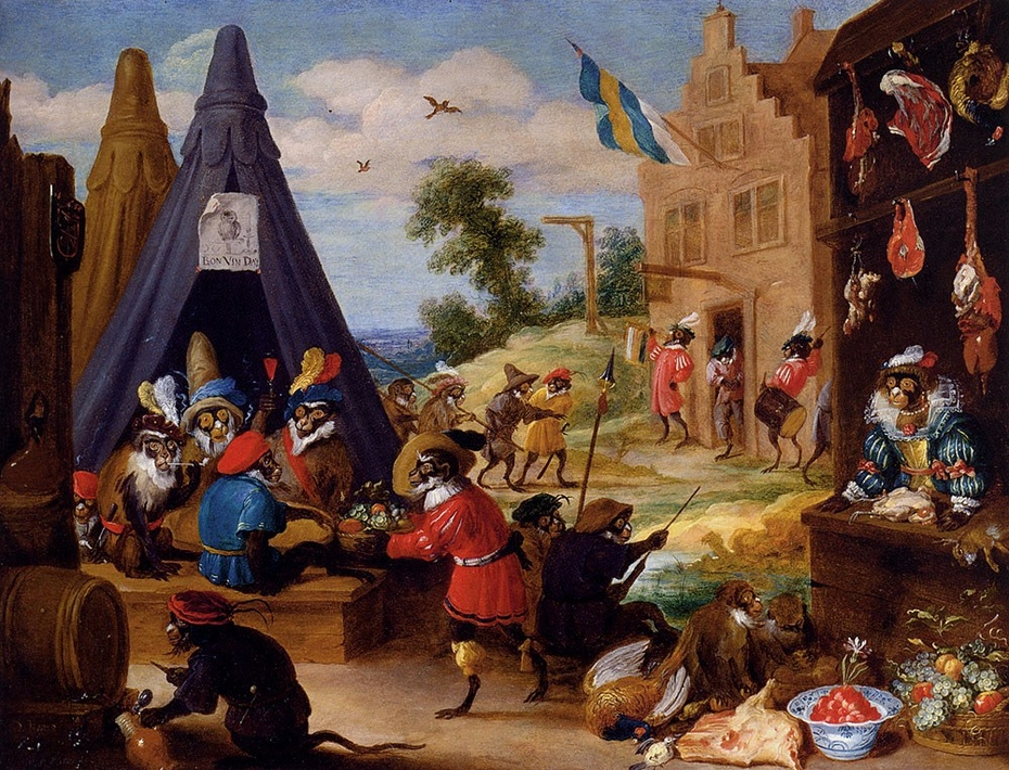 A Monkey Encampment