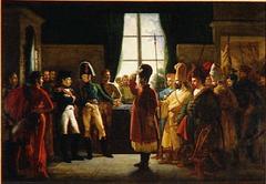 Alexandre Ier présentant à Napoleon les Kalmoucks, les Cosaques et les Baskirs de l'armée Russe, 9 juillet 1807
