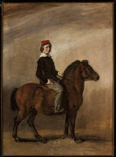 Artist's son on a pony