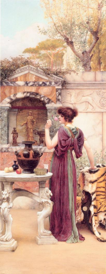 At the Garden Shrine, Pompeii