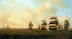 Beginning of Knowles' action off Havana, 1 October 1748