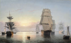 Boston Harbor, Sunset