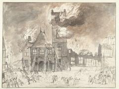 Brand in het oude stadhuis te Amsterdam